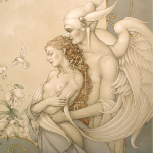 """""""There Must Be an Angel"""" Fine Art Edition on Paper by Michael Parkes"""