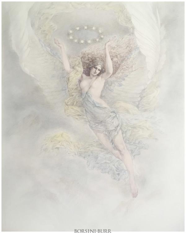 """Winged Nike"" Original Drawing by Kinuko Y. Craft"