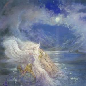 """Swan of Tuonela"" Fine Art on Canvas by Kinuko Y. Craft"