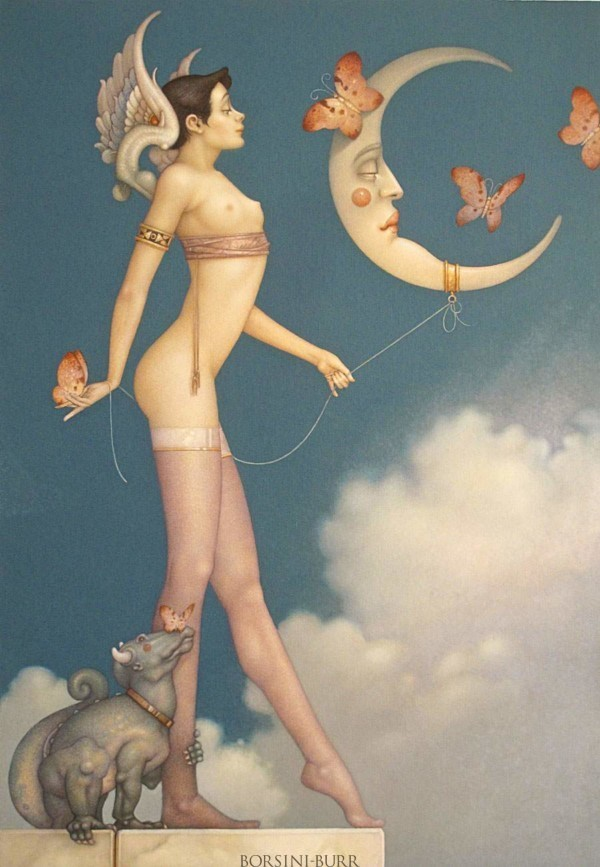 """""""Butterfly Moon"""" Fine Art Edition on Paper by Michael Parkes"""
