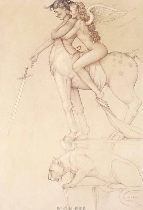 """""""Centaur"""" Fine Art Edition on Paper by Michael Parkes"""