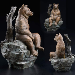 """Contemplation"" Bronze Sculpture by Robert Bissell"