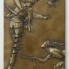 """Unwinding"" Bronze Bas Relief by Michael Parkes"