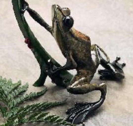 """""""Dinner for Two"""" Bronze Sculpture by Tim Cotterill """"Frogman"""""""