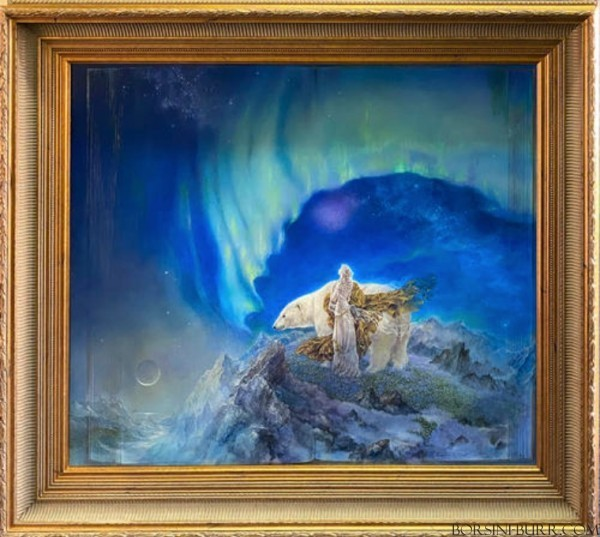 """""""East of the Moon West of the Sun"""" Original Oil on Board by Kinuko Y. Craft"""