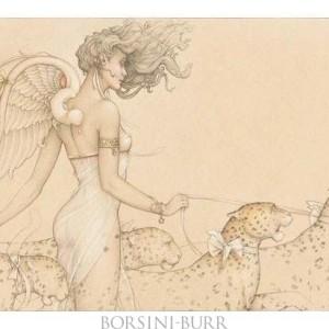 """""""Five Leopards"""" Fine Art Edition on Paper by Michael Parkes"""