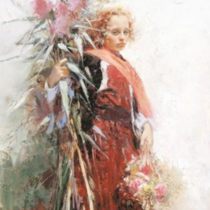 """""""Flower Child"""" Fine Art Edition on Canvas by Pino"""