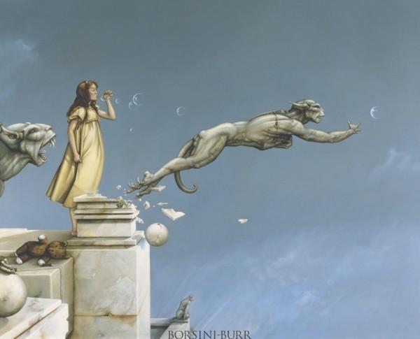 """Gargoyles"" Fine Art Edition on Canvas by Michael Parkes"