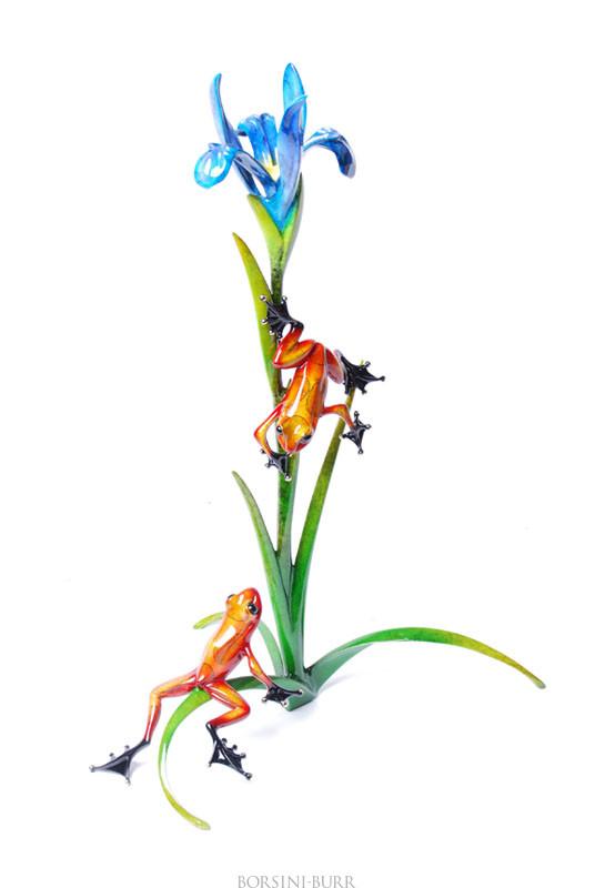 """""""Iris"""" Bronze Sculpture by Tim Cotterill """"Frogman"""""""