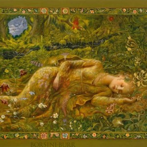 """""""Lady in the Meadow"""" Fine Art Edition on Canvas by Kinuko Y. Craft"""