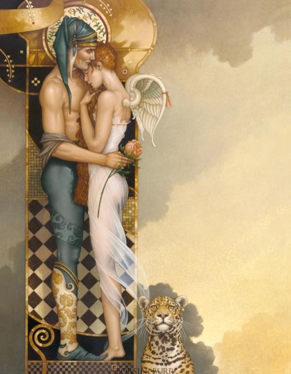 """Last Peony"" Fine Art Edition on Canvas by Michael Parkes"