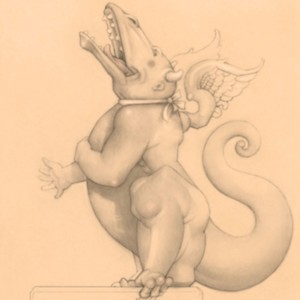 """""""Laughing Dragon"""" Fine Art Edition on Paper by Michael Parkes"""