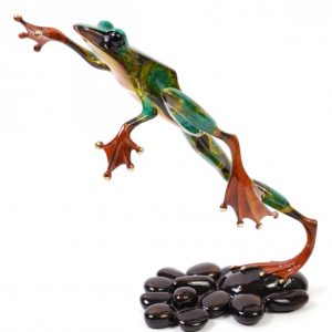"""Leap Frog Bronze Sculpture by Tim """"Frogman"""" Cotterill"""