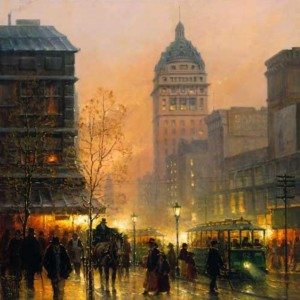 """""""Lights of San Francisco"""" Fine Art Edition on Paper by G. Harvey"""