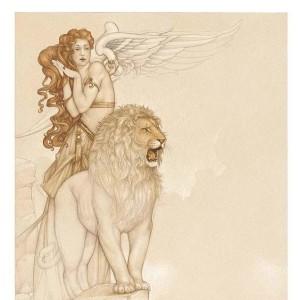 """""""Lion's Return"""" Fine Art Edition on Paper by Michael Parkes"""
