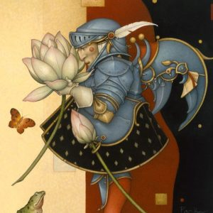 Lotus Collector Original Painting by Michael Parkes