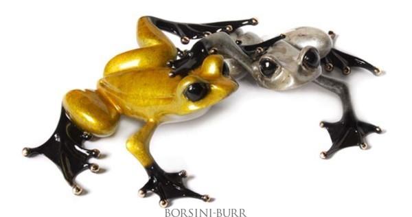 """Love"" Bronze Sculpture by Tim Cotterill ""Frogman"""