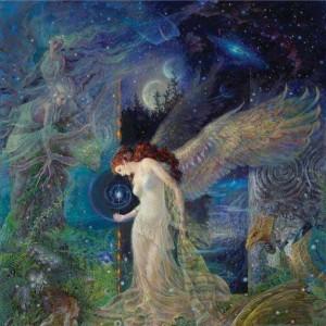 """""""Luna"""" Fine Art Edition on Canvas by Kinuko Y. Craft"""