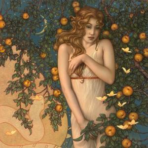 """Midnight Garden"" Fine Art Edition on Canvas by Michael Parkes"