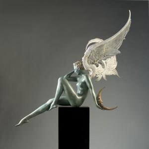 """Moonstruck"" Bronze Sculpture by Michael Parkes"