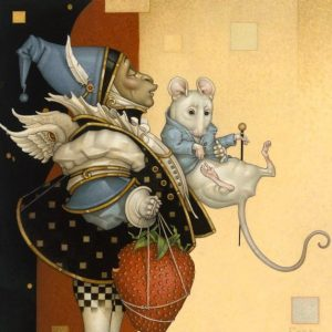 Mouse Collector Original Painting by Michael Parkes