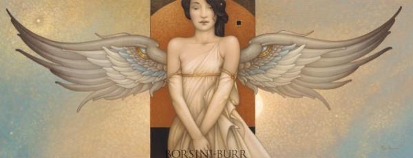 """""""Angel Portrait"""" Original Oil on Canvas by Michael Parkes"""
