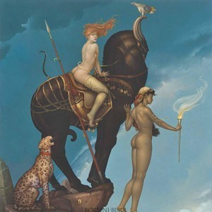 """""""Return of Persephone"""" Fine Art Edition on Canvas by Michael Parkes"""