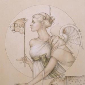 """Royal Cheetah"" Fine Art Edition on Vellum by Michael Parkes"