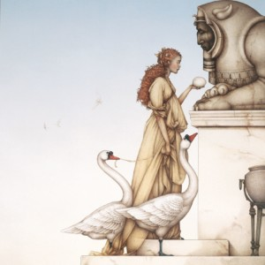 """""""The Riddle"""" Stone Lithograph by Michael Parkes"""