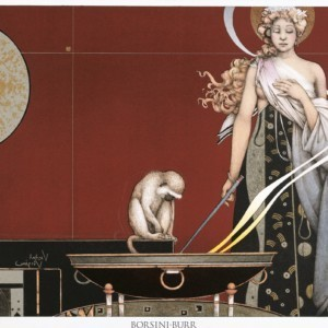 """""""Sacred Fire I"""" Stone Lithograph by Michael Parkes"""