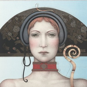 """""""Spring"""" Stone Lithograph by Michael Parkes"""