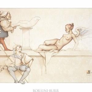 """The Sculpture"" Stone Lithograph by Michael Parkes"
