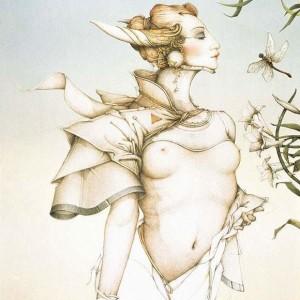 """Stalking"" Stone Lithograph by Michael Parkes"
