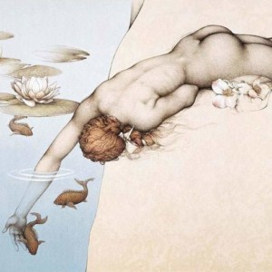"""""""Summer"""" Stone Lithograph by Michael Parkes"""
