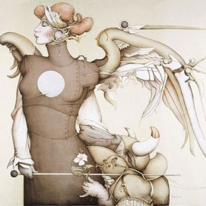 """""""Surrender to the Light Stone Lithograph by Michael Parkes"""