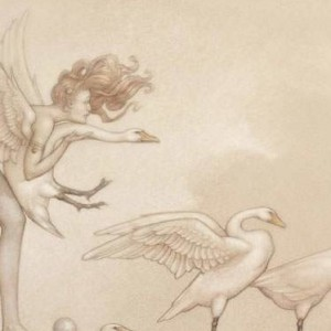 """""""Swan Games"""" Fine Art Edition on Paper by Michael Parkes"""