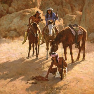 """""""The Missing Dispatch Case"""" Fine Art on Edition on Canvas by Howard Terpning"""