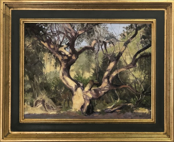 """""""The Buck Stopped Here"""" Original Oil On Board by Hollis Williford"""