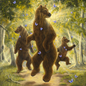 """""""The Dancers"""" Fine Art Edition on Canvas by Robert Bissell"""