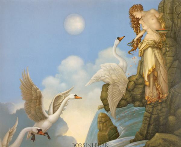 """The Source"" Original Oil on Canvas by Michael Parkes"