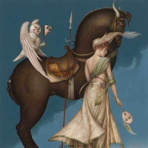 """""""The Summit"""" Fine Art Edition on Canvas by Michael Parkes"""