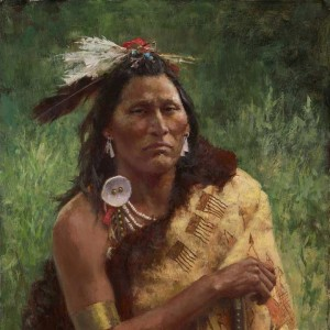 """""""Three Trophies"""" Fine Art Edition on Canvas by Howard Terpning"""