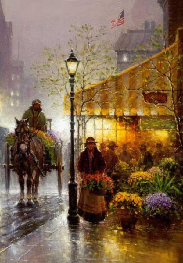 """""""Yellow Awning"""" Fine Art Edition on Paper by G. Harvey"""