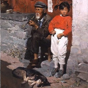 """""""A Quiet Day"""" Fine Art on Canvas by Mian Situ"""