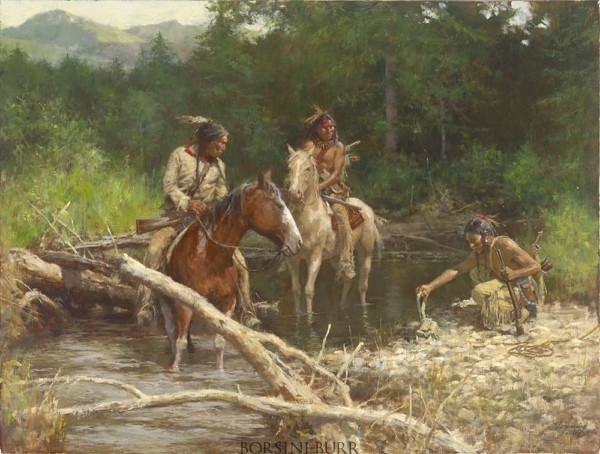 Blackfeet Scouts in the Flathead Valley