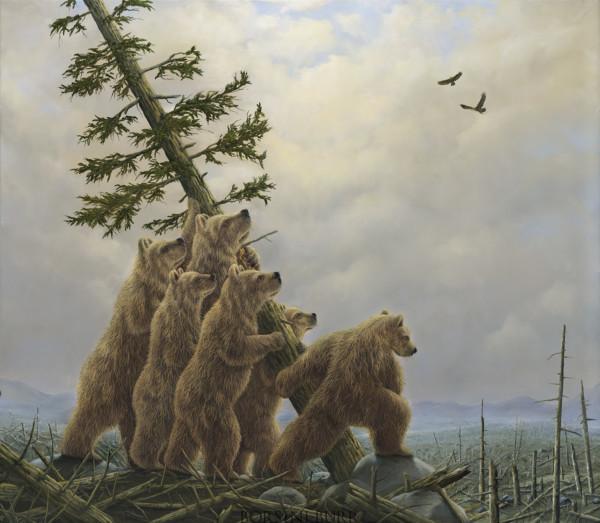 """""""Blowdown!"""" Fine Art Edition on Canvas by Robert Bissell"""