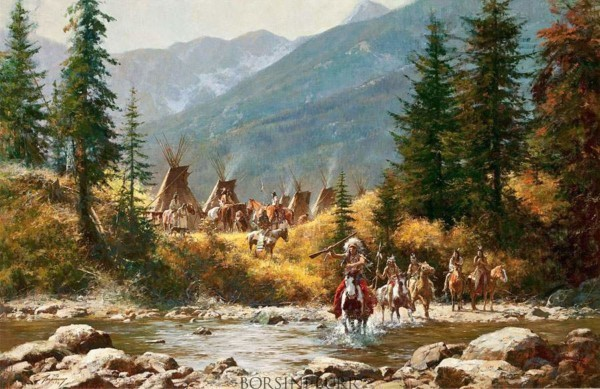 """""""Crow Country"""" Fine Art Edition on Canvas by Howard Terpning"""