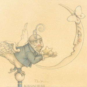 """""""Gift for a Sad Moon"""" Fine Art Edition on Paper by Michael Parkes"""