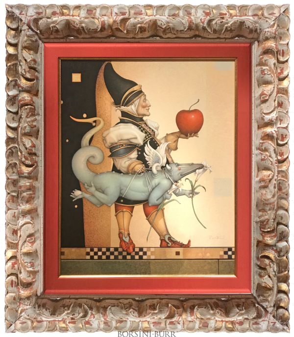 """""""Dragon Collector"""" Original Oil on Canvas by Michael Parkes"""