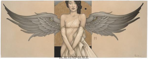 """""""Angel Portrait"""" Original Drawing by Michael Parkes"""